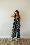 Black Floral Jumpsuit - Sweetly Striped