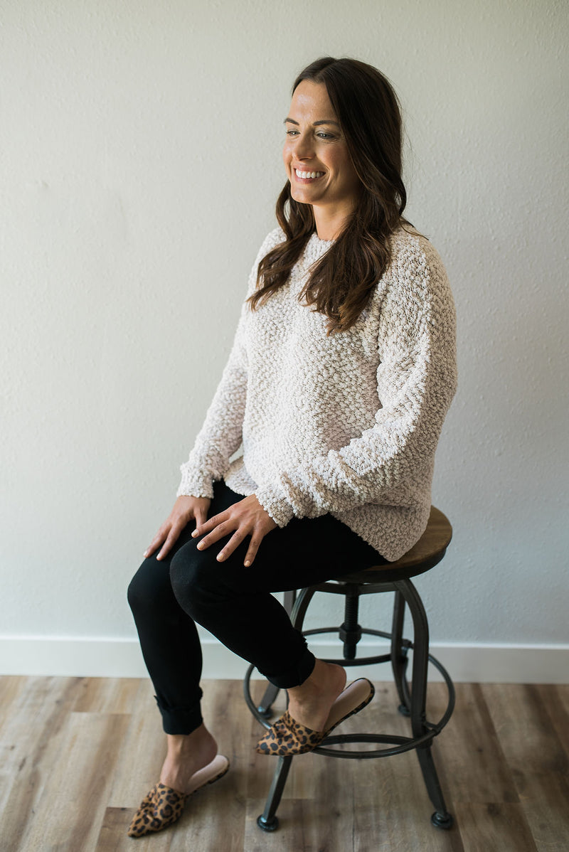 Fluffy Pullover - Sweetly Striped