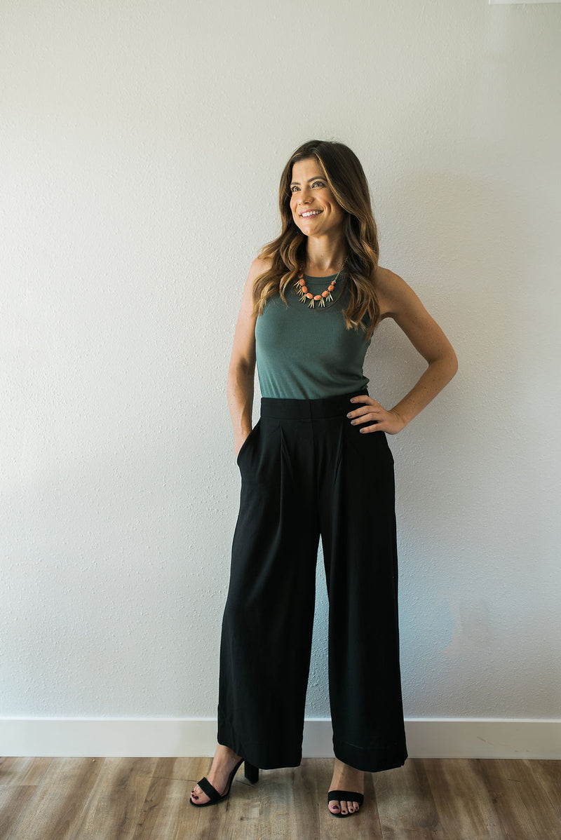 Wide Leg Pants - Sweetly Striped
