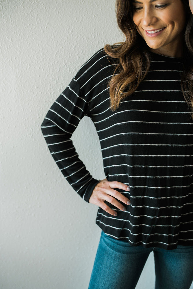Dreamy Striped Knot Top