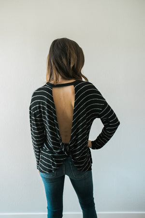 Dreamy Striped Knot Top - Sweetly Striped