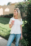 Braided Striped Tee - Sweetly Striped