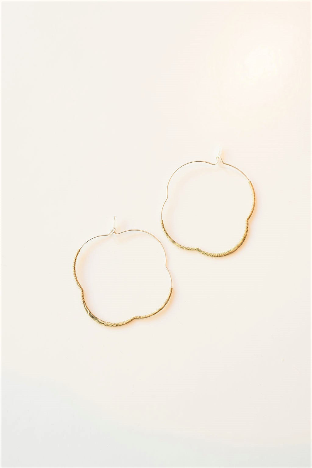 Wire Wrapped Hoop - gold/silver