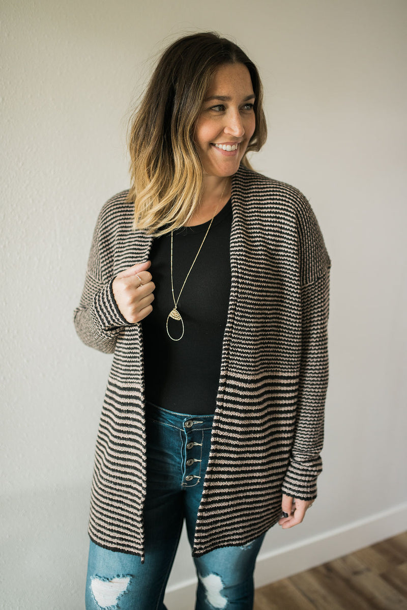 Sophisticated Striped Cardigan - Sweetly Striped