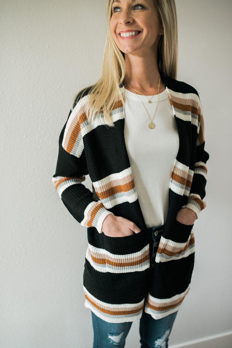 Dreamer Striped Cardigan - Sweetly Striped