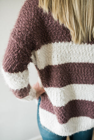 Plush Striped Sweater - Sweetly Striped