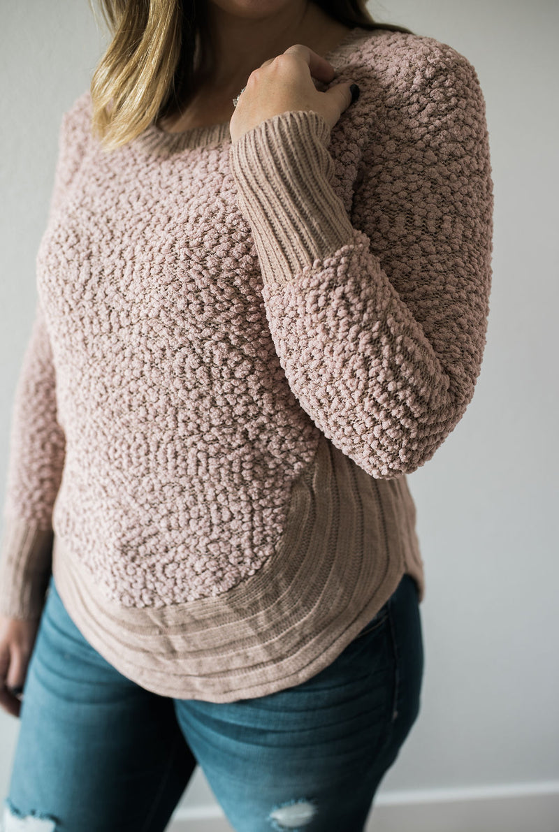 Blush Popcorn Pullover - Sweetly Striped