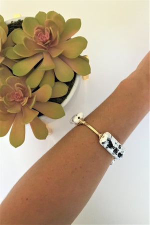 Dalmatian Bangle - Sweetly Striped