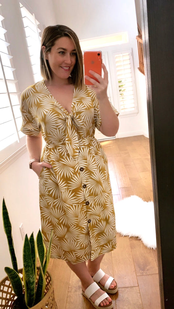 Tropical Vibes Midi Dress - Sweetly Striped