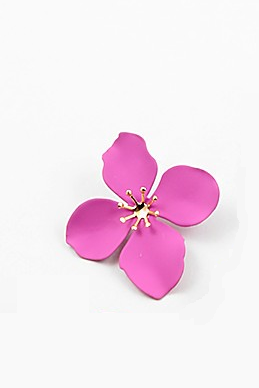 Flower Studs - Fushcia - Sweetly Striped