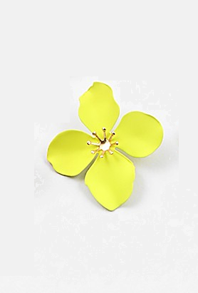 Flower Studs - Neon Green - Sweetly Striped