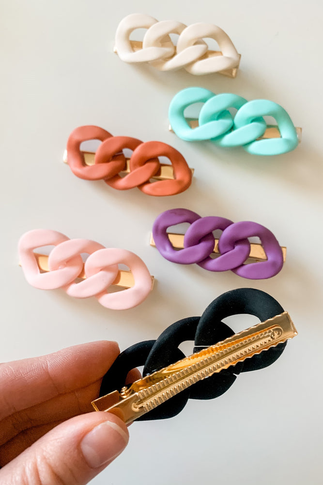 Chain Link Hair Clip Set