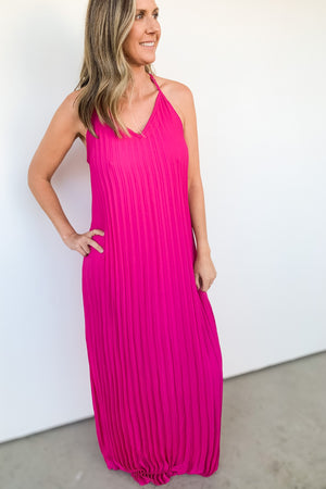 Take Me Out Pleated Maxi Dress
