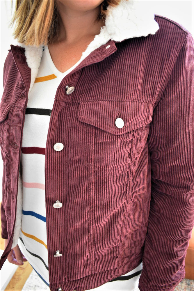 Burgundy Corduroy Jacket
