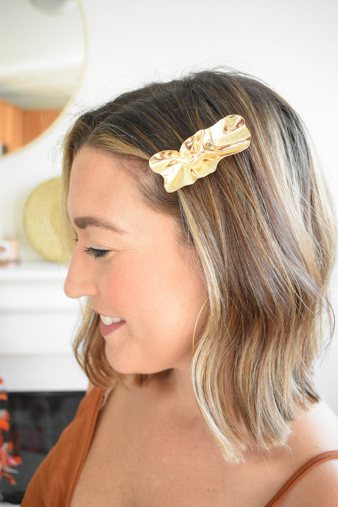 Gold Textured Hair Pin