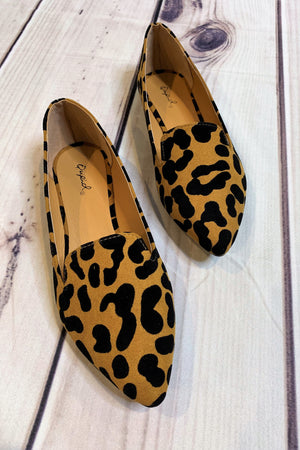 Leopard Ballerina Flats - Sweetly Striped