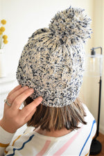 Mixed Yarn Beanie - Sweetly Striped