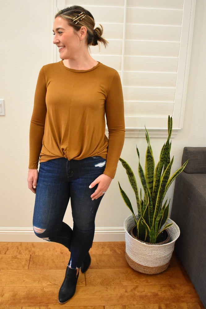 Knotted Front Tie Top