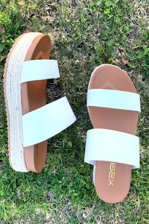 Sunny Days Double Strap Espadrille - Sweetly Striped