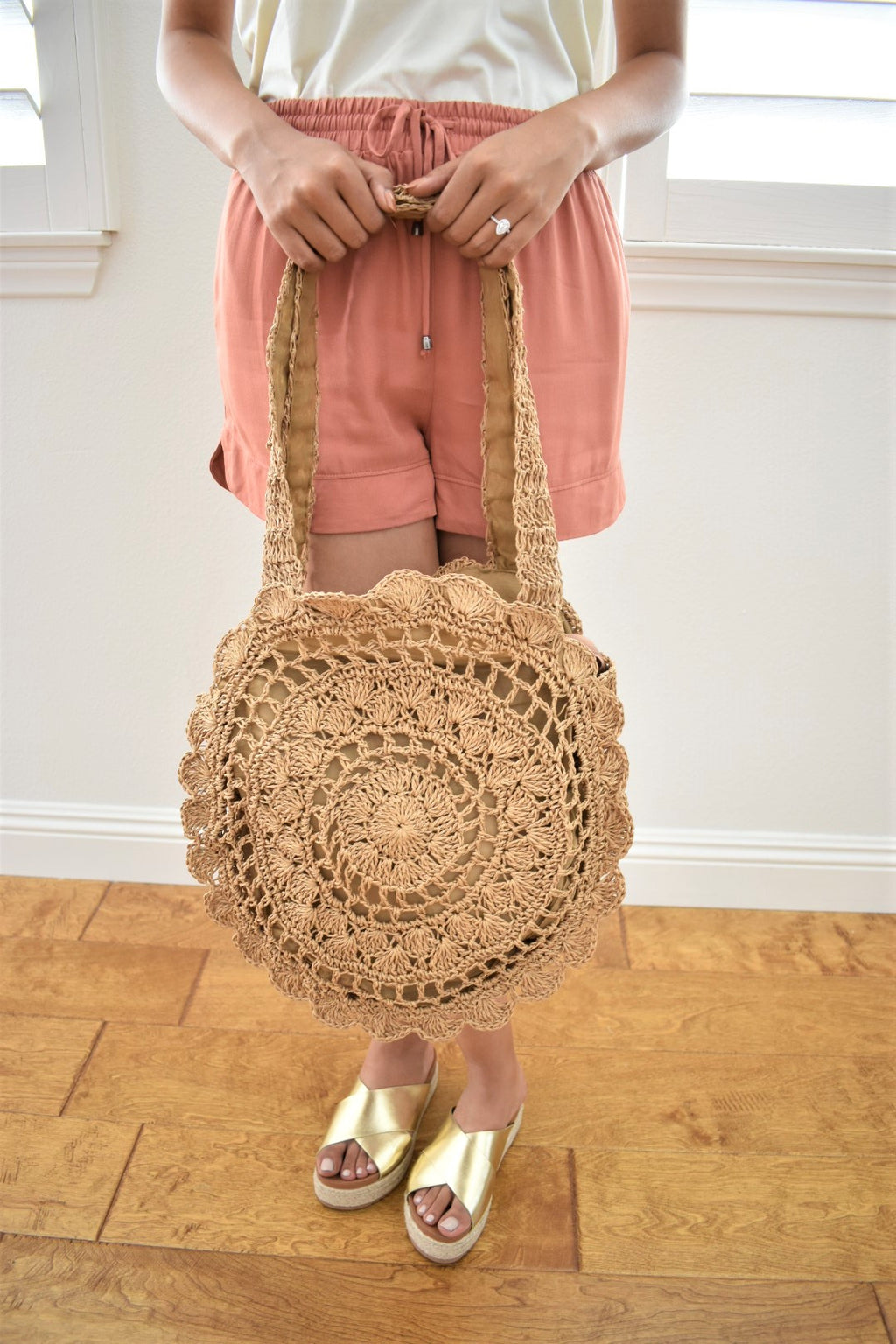 Beachy Woven Bag - Sweetly Striped
