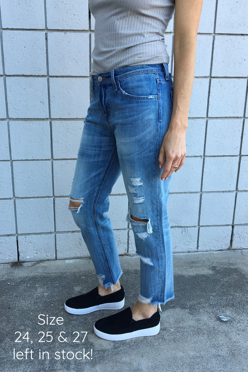 Dreamy Boyfriend Jean - Sweetly Striped