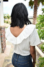 Cascading Front Crop Top - Sweetly Striped