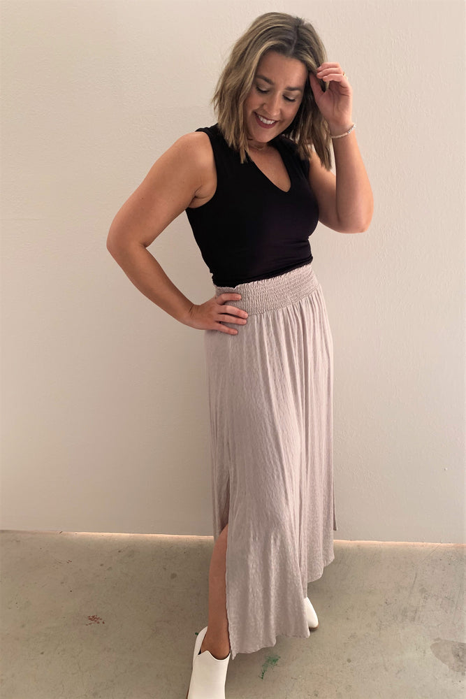Everyday Animal Print Maxi Skirt - Sweetly Striped