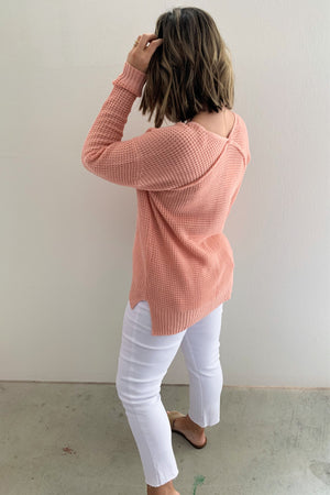 Spring Days Peach Pullover - Sweetly Striped