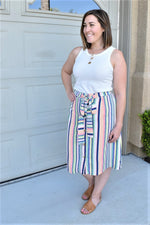Key West Button Up Skirt