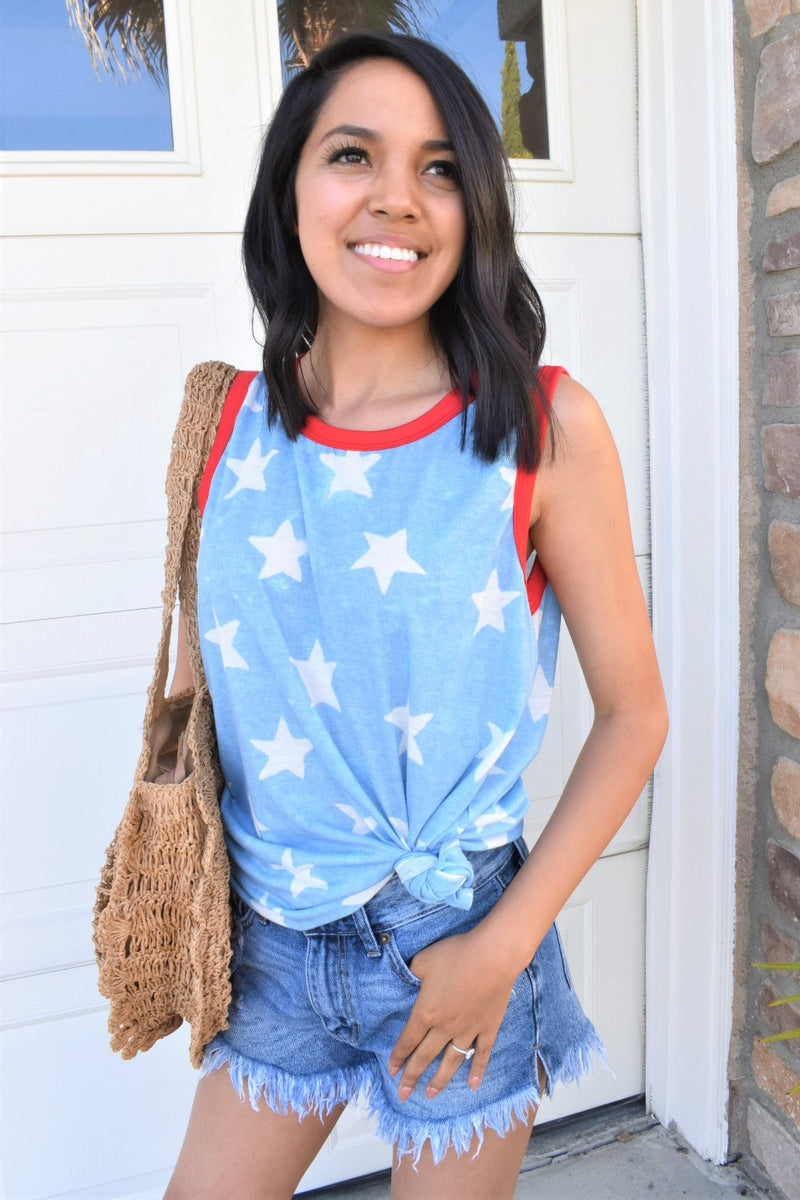 All American Girl Tank - Sweetly Striped