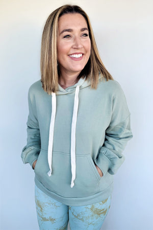 Pockets For Days Hoodie - Sage Green