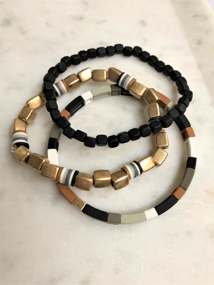 Stackable Bracelet Set - Sweetly Striped