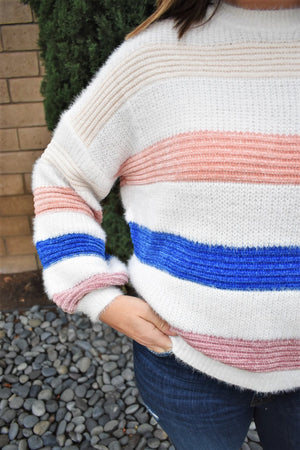 What A Girl Wants Knit Sweater - Sweetly Striped
