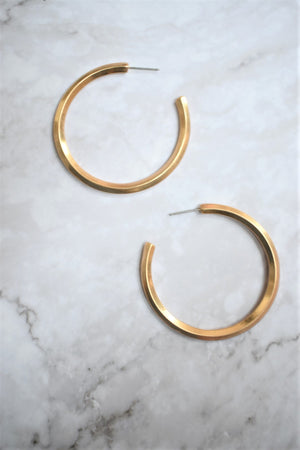 Modern Woman Hoops - Gold - Sweetly Striped