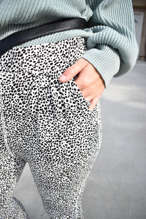 The Mini Leopard Print Pant - Sweetly Striped