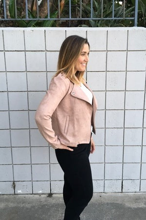 Mauve Moto Jacket - Sweetly Striped
