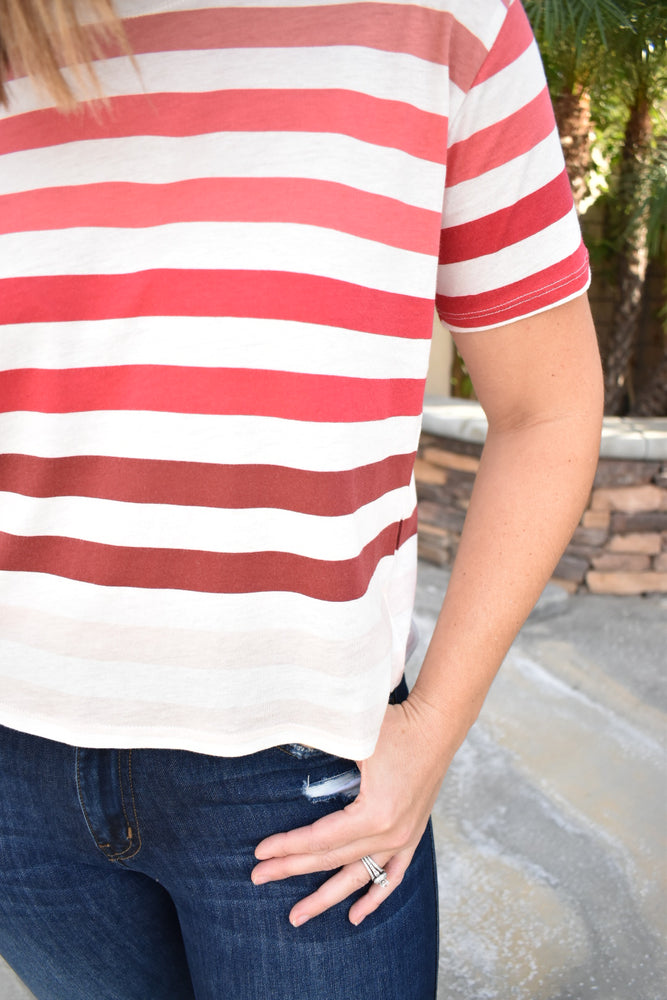 Pink Ombre Striped Top - Sweetly Striped
