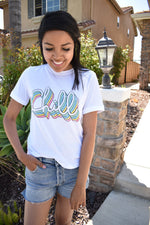Let's CHILL Graphic Tee - Sweetly Striped
