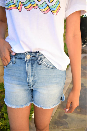 Faded Everyday Shorts - Sweetly Striped