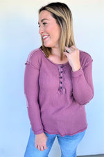 Everyday Style Thermal Top - Mauve