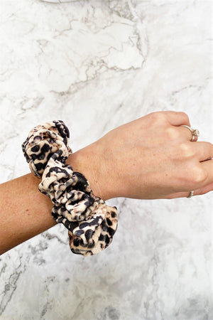 Velvet Snakeskin Scrunchie - Sweetly Striped