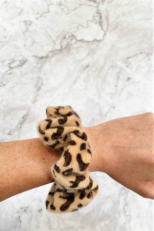 Brushed Leopard Scrunchie Set - Sweetly Striped