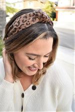 Brushed Leopard Headband - Sweetly Striped