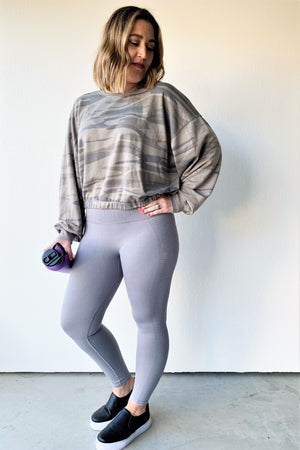 Mineral Wash Seamless Leggings - Sweetly Striped