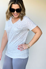 Short Sleeve Leopard T-Shirt - Sweetly Striped