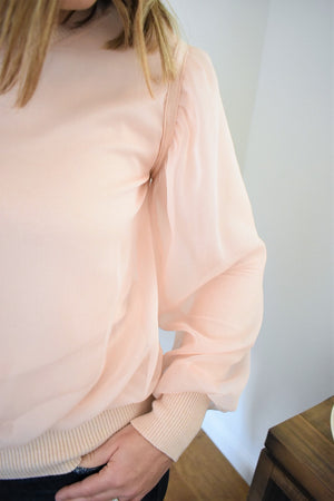 Sheer Overlay Sweater - Sweetly Striped