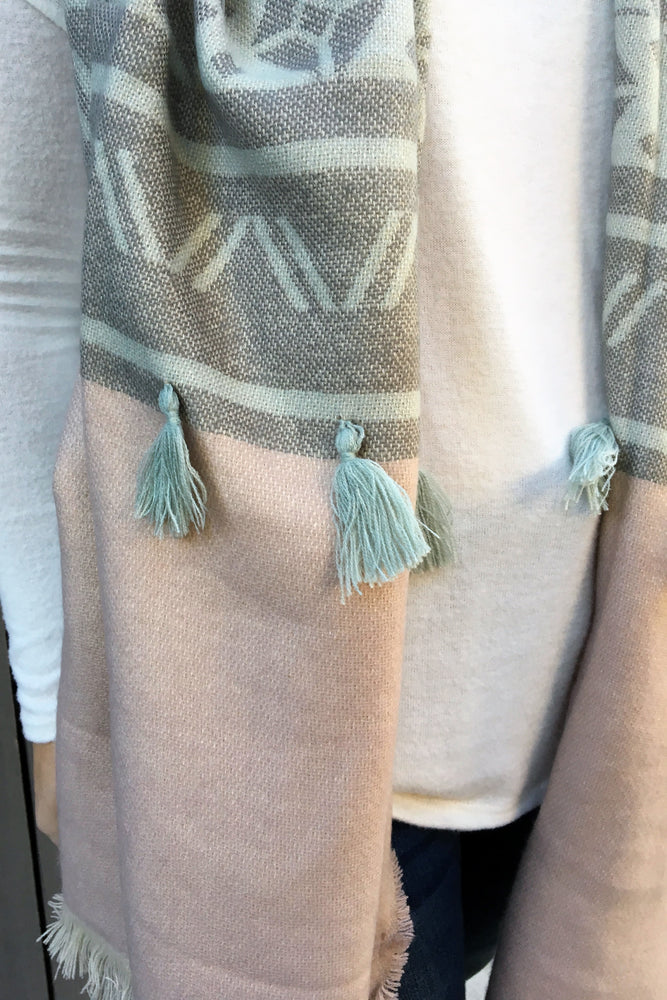 Winter Scarf with Tassels - Sweetly Striped