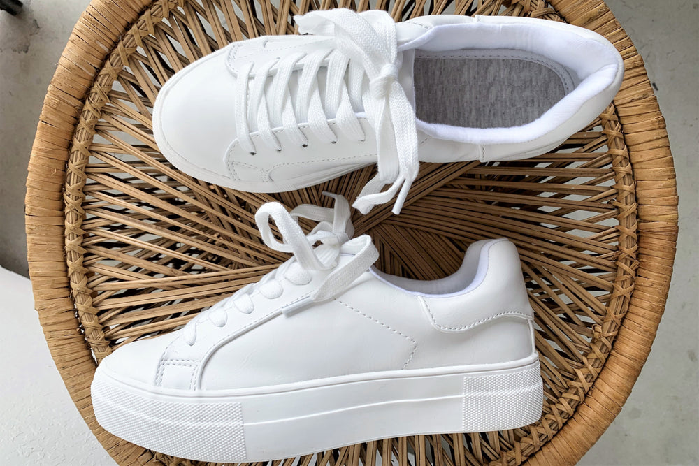 Everyday White Fashion Sneakers - Sweetly Striped