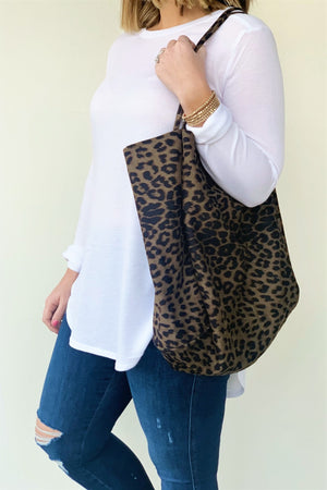 Leopard Modern Tote - Sweetly Striped