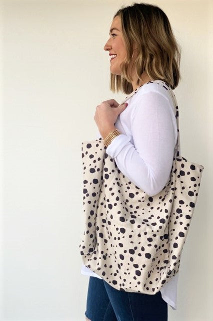 Polka Dot Modern Tote - Sweetly Striped